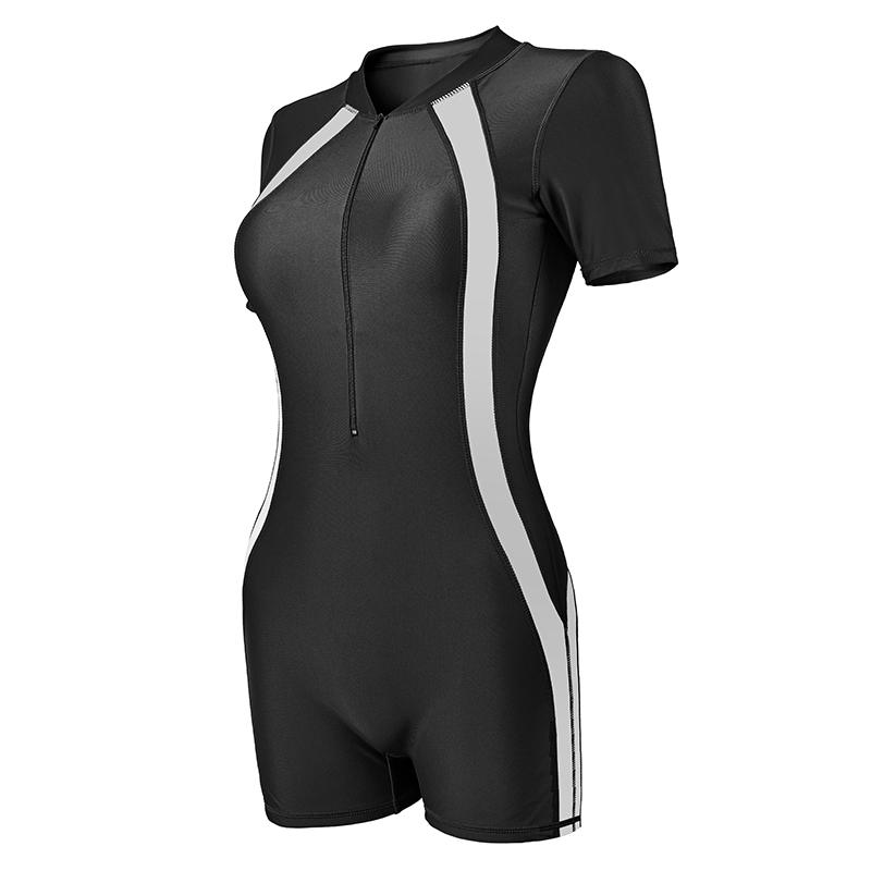 泳衣女温泉保守遮肚显瘦学生专业运动泳装大码平角连体泳衣性感