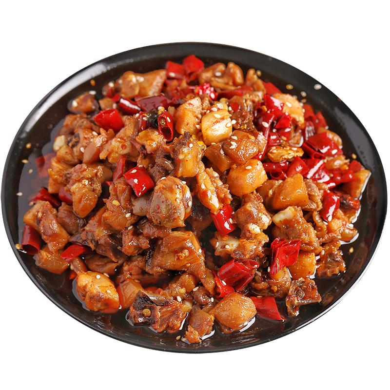 辣子鸡丁冷吃麻辣鸡肉零食筋辣子鸡