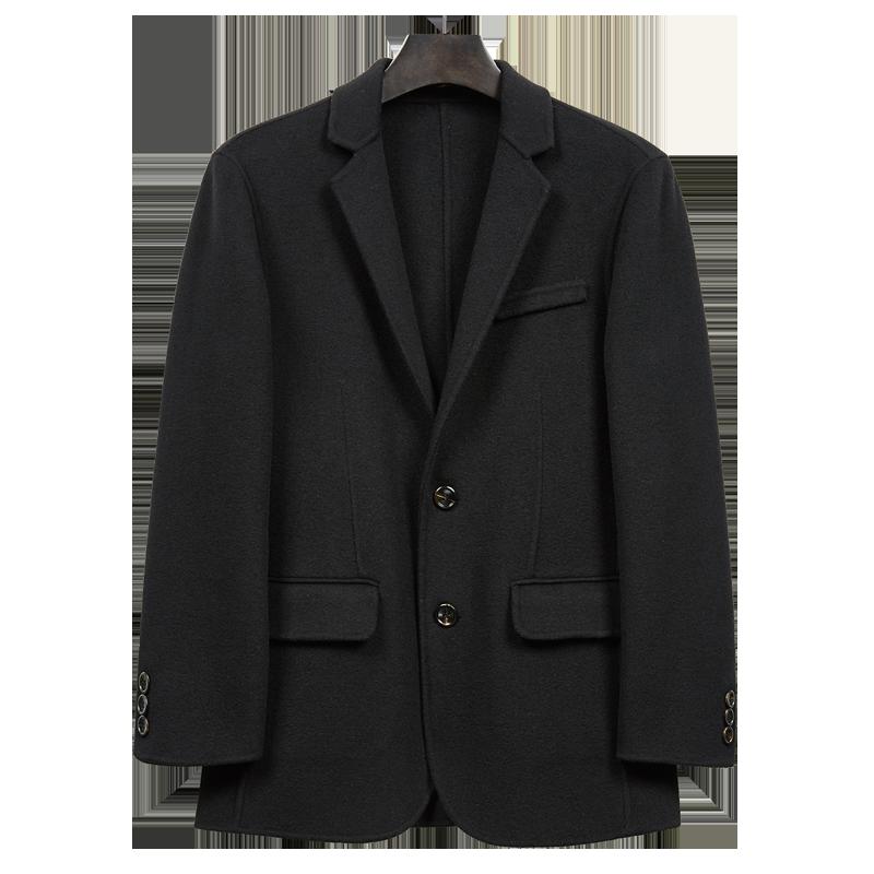 双面呢西装男羊毛韩版潮流单西上衣男士休闲非羊绒小西服外套秋冬