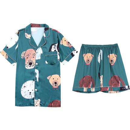 情侣夏季短袖两件套装可爱韩版睡衣