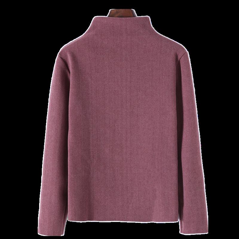 黑白色堆堆半高领加绒德打底衫女秋冬毛衣2020年新款内搭长袖洋气