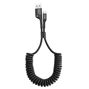 倍思蘋果XS數據線iphone6s手機7伸縮typec彈簧線X加長ipad平板快充衝車載短款收納便攜8plus充電線適用於華為