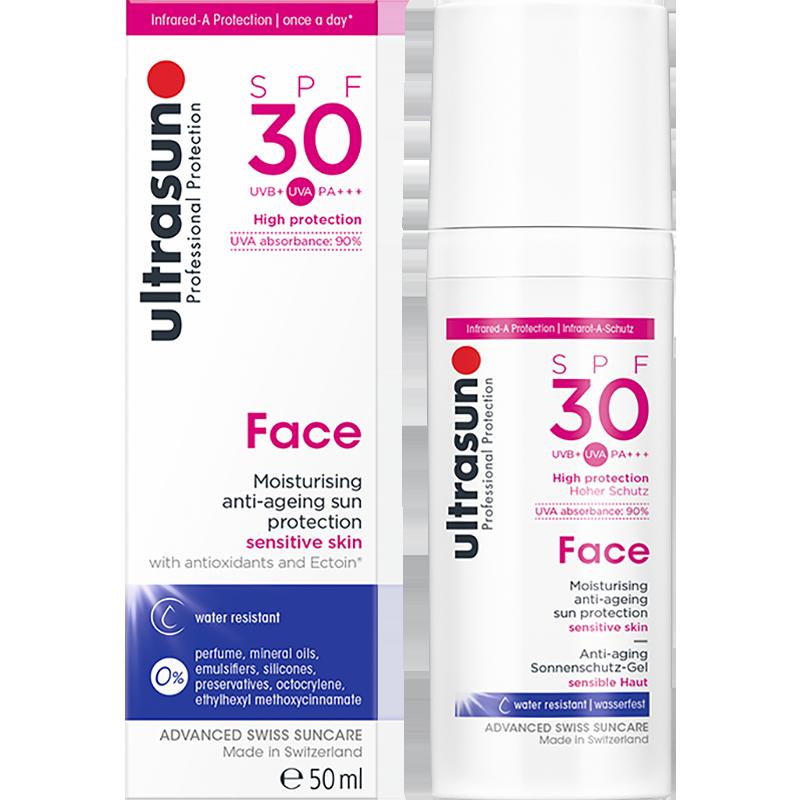 ultrasun优佳面部抗老防晒小粉瓶SPF30 30ml敏肌优选