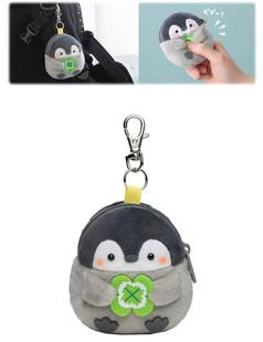 日本可愛卡通正能量企鵝可愛發聲毛絨玩具公仔包包玩偶掛件零錢包