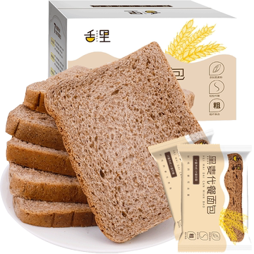 舌里【刷脂代餐】黑麦全麦面包2斤