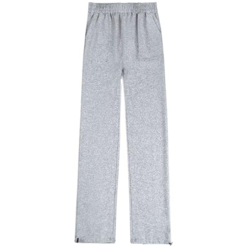 灰色运动裤女裤子2020新款秋冬季外穿宽松束脚裤休闲加绒加厚卫裤