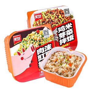 美好自热鸡米芽菜拌饭即食方便米饭