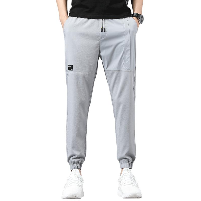 冰丝休闲裤男士运动裤超薄款夏季潮流宽松速干长裤子夏天空调男裤