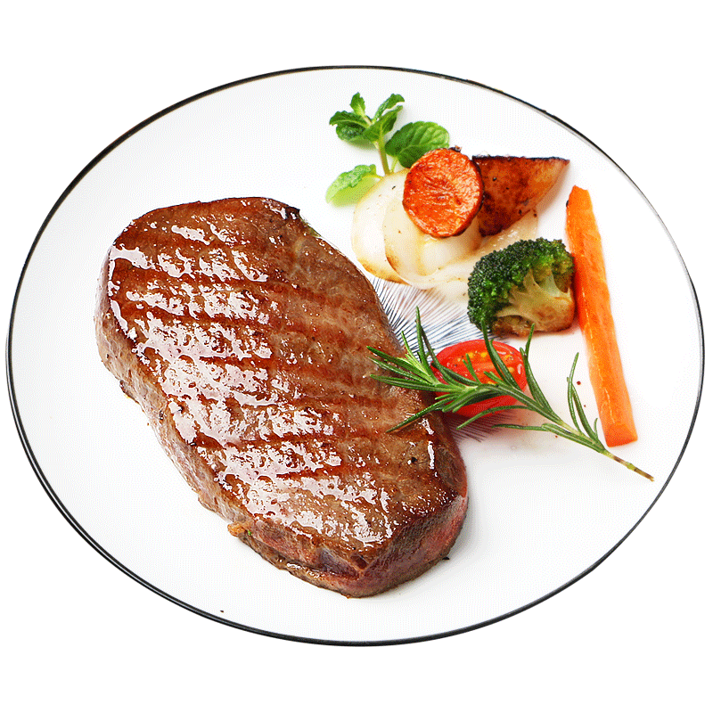 【东上御品】原肉整切牛排套餐黑椒10片