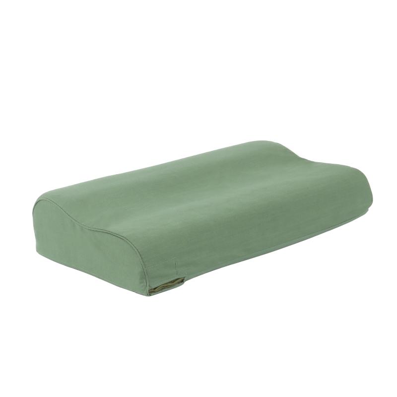 正品军绿色枕头单人宿舍乳胶枕头套质量如何?