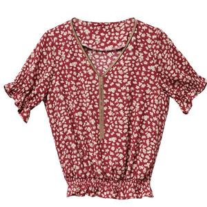 夏季娃娃领雪纺女短袖女装新款小衫