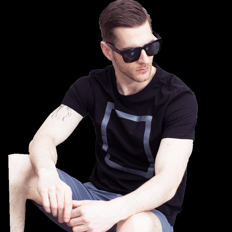 夏季男士纯棉丅恤短袖t恤白打底衫