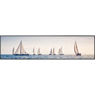 现代简约大气帆船床头客厅装饰画