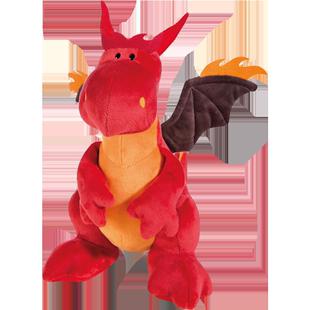德國NICI火龍坐姿公仔恐龍毛絨玩具火焰龍萊爾布娃娃可愛飛龍禮物