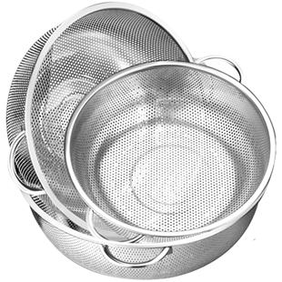 加厚不鏽鋼漏盆 瀝水盆 洗菜盆 淘米盆蔬果盆果籃菜盆 瀝水盆菜籃