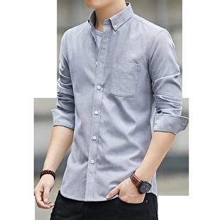 意邦伦2019男士新款休闲长袖衬衫