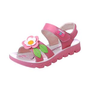 女童2021新款夏季公主鞋真皮凉鞋