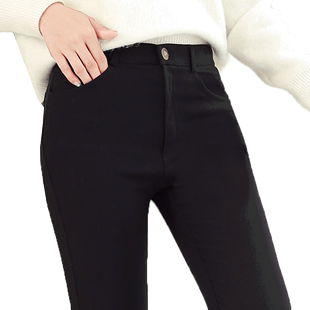 黑色外穿打底褲女春秋冬加絨鉛筆2020新款高腰顯瘦緊身小腳魔術褲