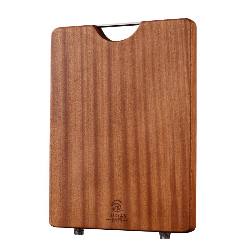 涂典乌檀木菜板实木砧板家用抗菌防霉整木切菜板厨房占案粘板刀板