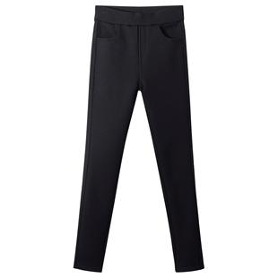打底褲女外穿2020新款春秋季顯瘦高腰薄款緊身小腳魔術黑色褲子女