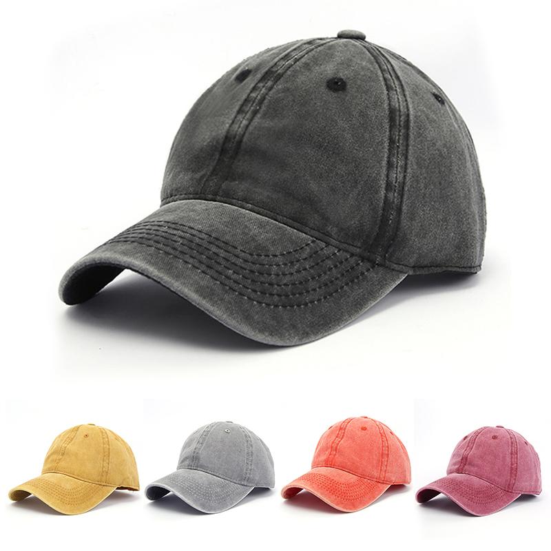 王一博同款潮人街头时尚百搭鸭舌帽复古做旧水洗牛仔帽男士棒球帽