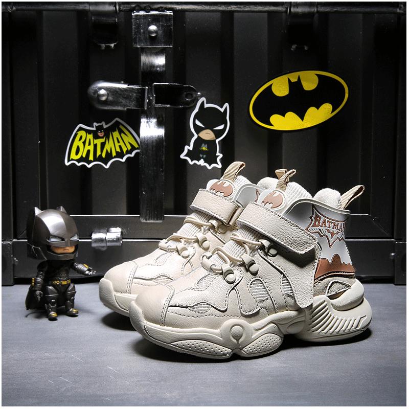 蝙蝠侠童鞋男童2019秋季新款秋款男孩运动鞋秋冬季加绒儿童二棉鞋