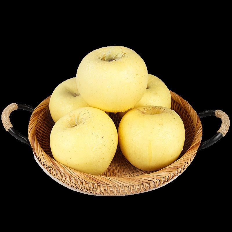 山东烟台黄金奶油富士苹果5斤装
