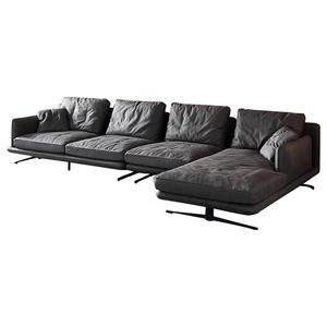 科技轻奢2021新款小户型灰色布沙发