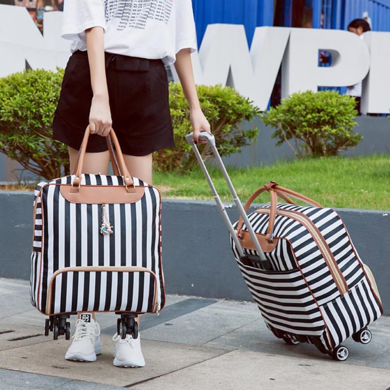 旅行箱包出差一天旅行包小型便携收纳袋校园风拉杆式简便流行登机