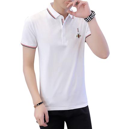 夏季男士短袖男装翻领纯棉保罗t恤