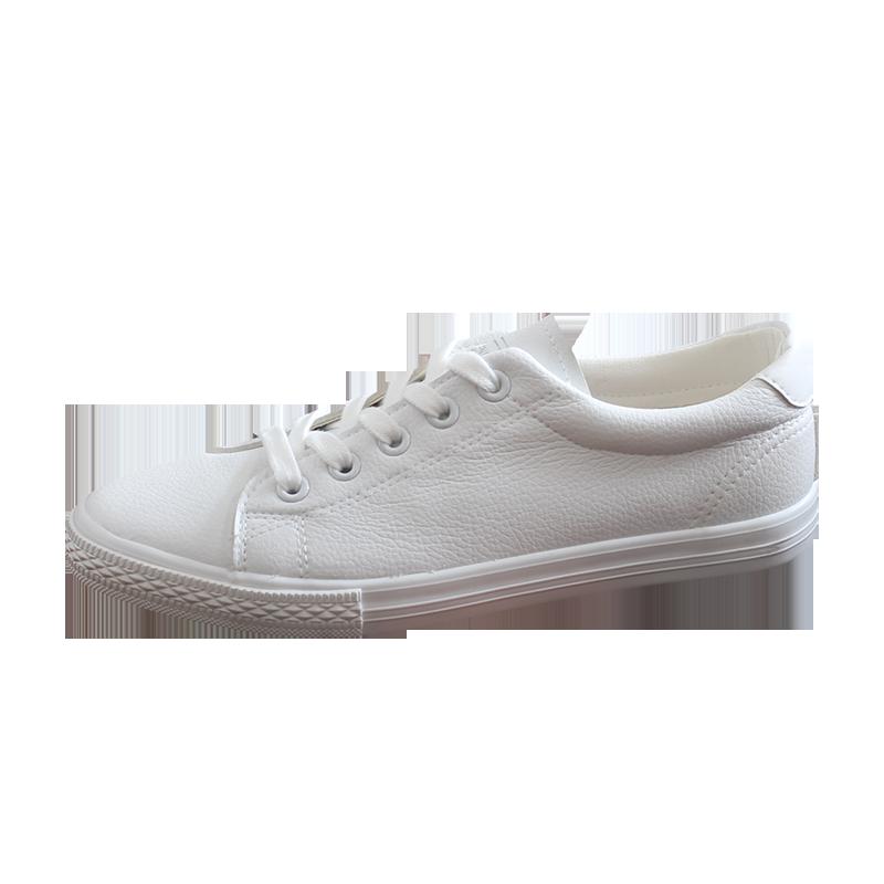 新款透气人本官方小白平底板鞋