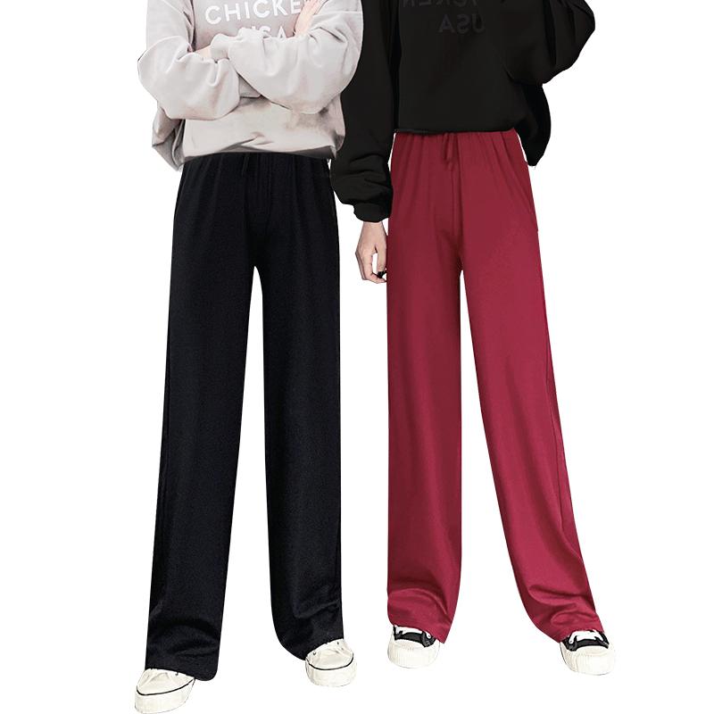 【南极人】铜氨丝阔腿裤高腰显瘦西装