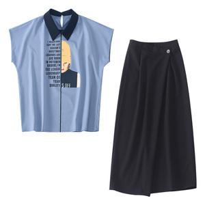 2021年新款女夏装小个子洋气裙子