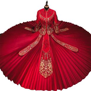 秀禾服新娘中式禮服2020新款結婚敬酒服古裝嫁衣出閣服龍鳳褂喜服