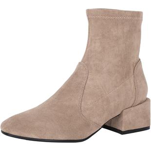 康莉冬季百搭ins網紅瘦瘦靴時尚顯瘦襪靴高跟中跟彈力靴女