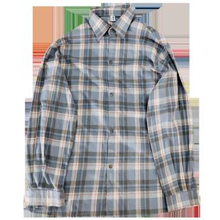 格子襯衫男士長袖網紅襯衣韓版潮流寬鬆打底衫港風百搭帥氣薄外套
