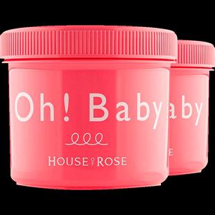 2罐*日本Oh baby身體磨砂膏570g/瓶 去雞皮膚去角質死皮保濕嫩膚