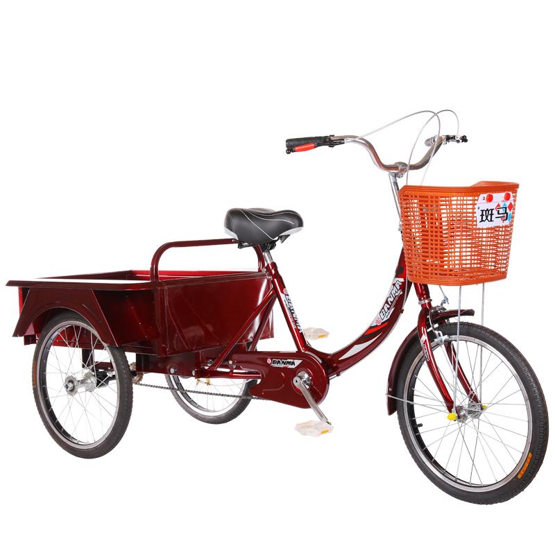新款老年人力车脚蹬脚踏成人三轮车