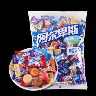 阿爾卑斯牛奶硬糖2500g袋裝混合口味散裝原味婚禮結婚喜糖果零食