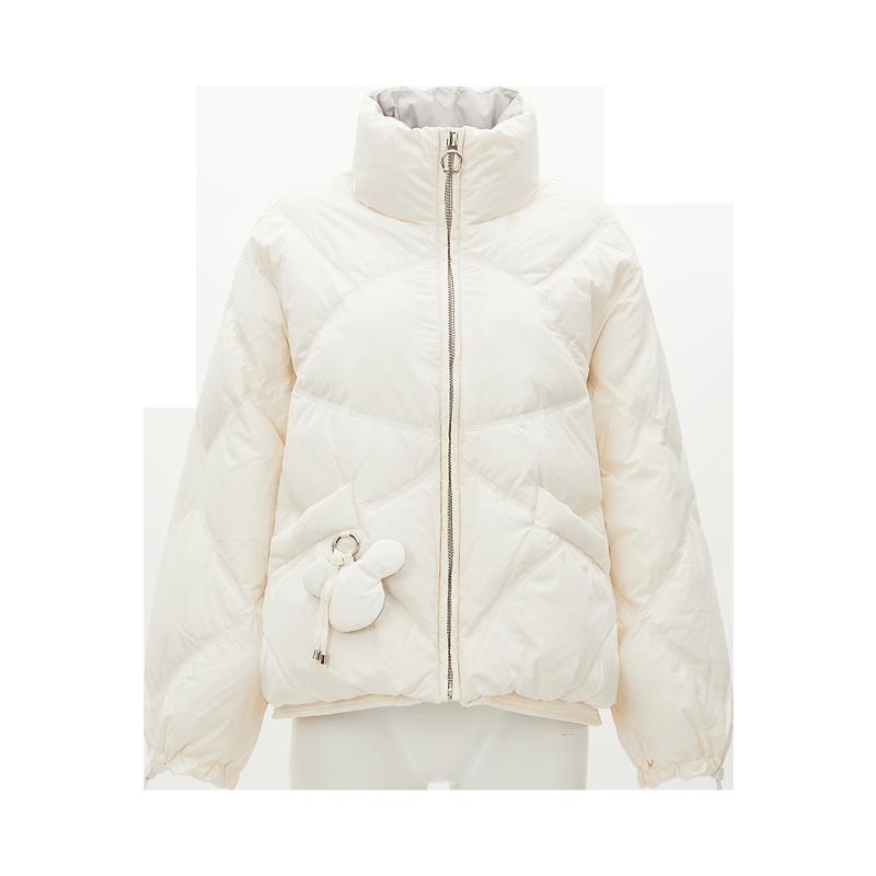 【飘蕾】秋冬新款短款白鸭绒羽绒服女