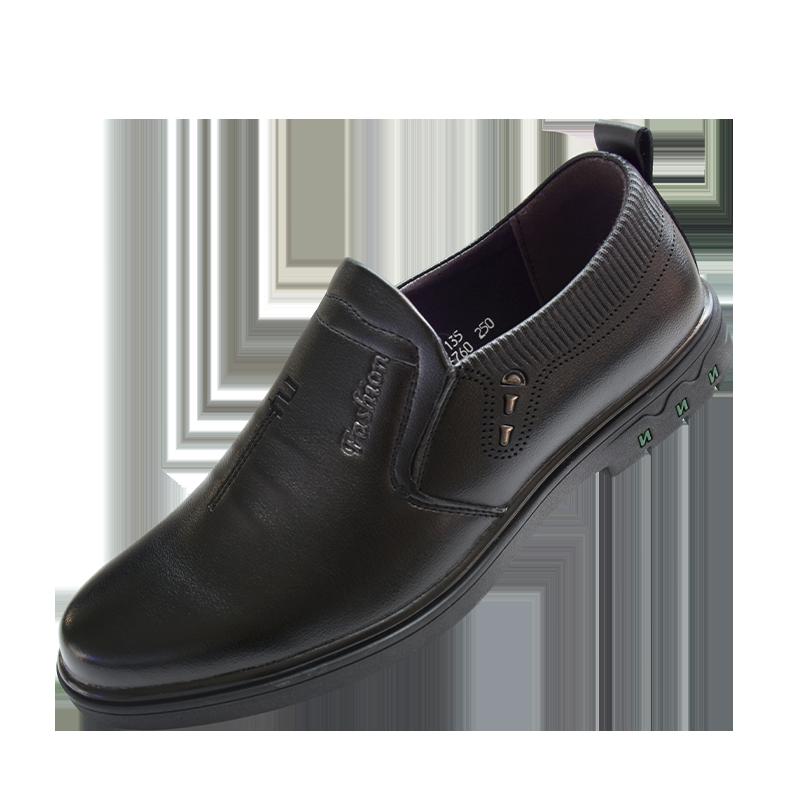 【5号后发货】男士皮鞋商务正装上班工作鞋拼接英伦爸爸皮鞋潮