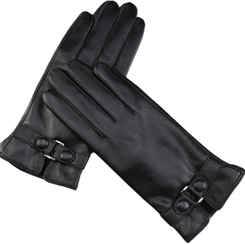 皮手套女秋冬季保暖可爱触屏棉韩版防寒防水开车骑车学生加绒加厚