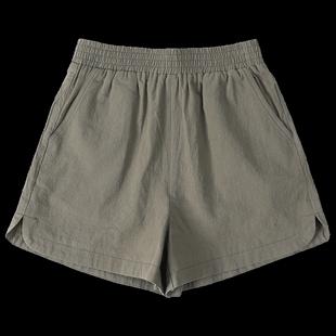 2020夏季新款高腰棉質闊腿短褲女大碼寬鬆休閒a字褲顯瘦熱褲外穿