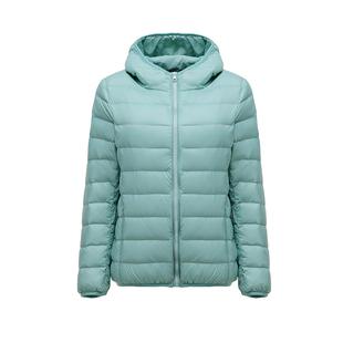 轻薄羽绒服女2021年新款短款白鸭绒时尚爆款秋冬大码轻便外套反季