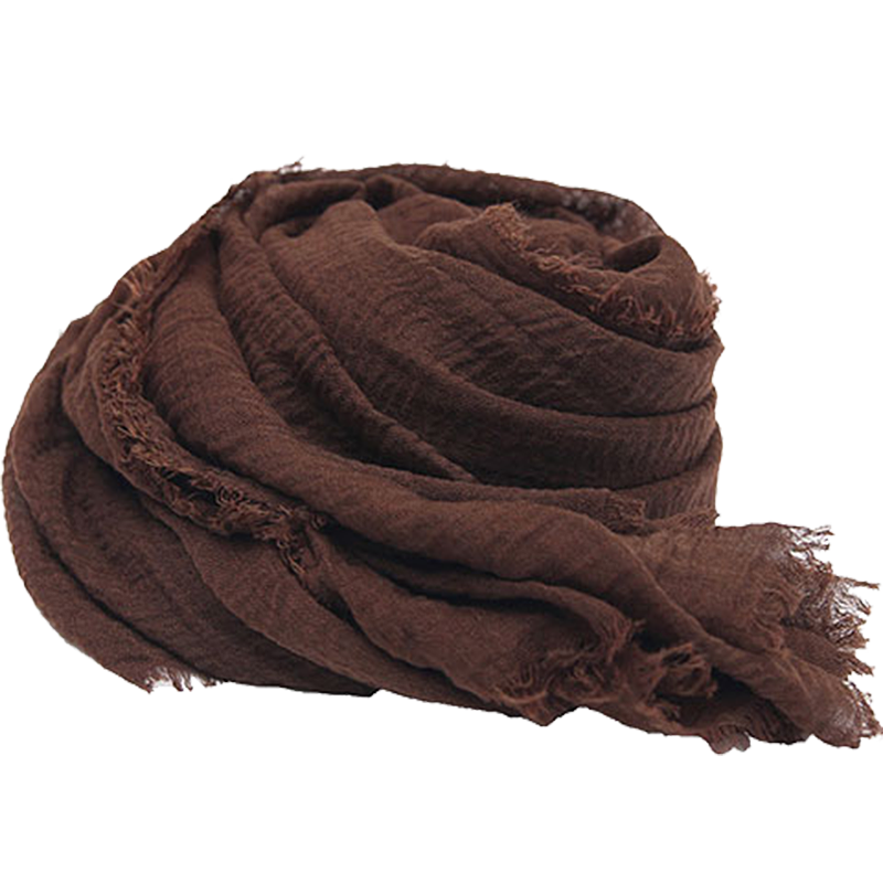 春夏天棉麻围巾女薄款纯色加大防晒披肩女夏季海边沙滩巾纱巾