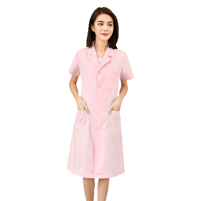 白大褂医生服美容院工作服医师服长袖短袖夏季薄款女护士服实验服