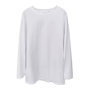 纯棉白色长袖t恤韩版宽松潮打底衫
