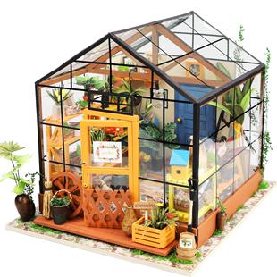 若態若來diy小屋手工製作木質模型拼裝藝術屋凱西花房生日禮物女