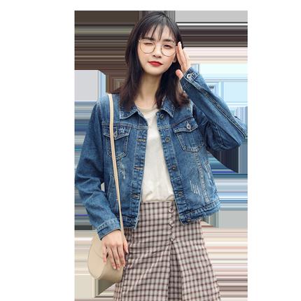 网红牛仔外套女短款学生韩版修身2019新款秋装小香风上衣女潮ins