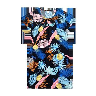 夏季长款显瘦短袖人造棉加肥睡裙